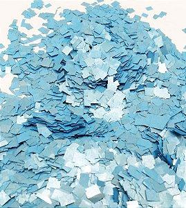 Confete Azul Metalizado Quadrado para Balão Claro - 1cm x 1cm - Estilo e Festas Rizzo Festas