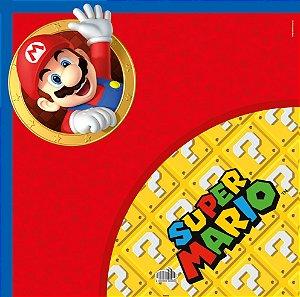 Saco Express 39x39cm Super Mario para Ovos de 350g a 500g - 5 unidades - Cromus Páscoa - Rizzo Embalagens