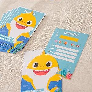 Convite Festa Baby Shark - 8 unidades - Cromus - Rizzo Festas