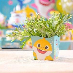 Cachepot Festa Baby Shark - 8 unidades - Cromus - Rizzo Festas