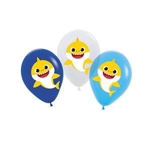 Balão Sortido Festa Baby Shark - 06 unidades - Cromus - Rizzo Festas