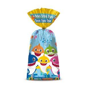 Sacolinha Surpresa Festa Baby Shark - 8 unidades - Cromus - Rizzo Festas