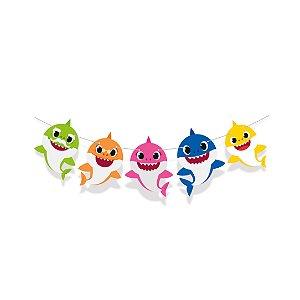 Faixa Decorativa Festa Baby Shark - 1 Unidade - Cromus - Rizzo Festas