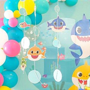 Cortina Decorativa Festa Baby Shark - 6 Unidades - Cromus - Rizzo Festas