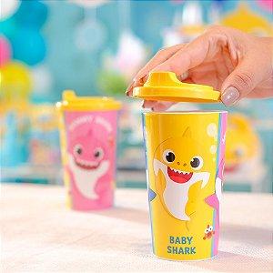 Copo Plástico Infantil 300ml Festa Baby Shark - 1 Unidade - Cromus - Rizzo Festas