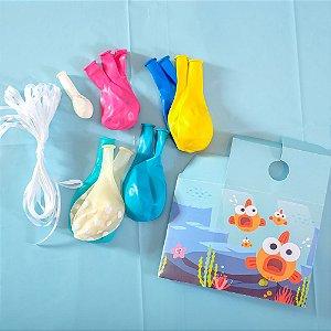 Kit Balões Festa Baby Shark - 1 Unidade - Cromus - Rizzo Festas