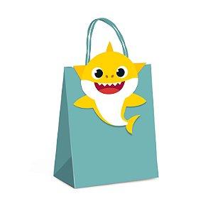 Sacola com Fechamento Baby Shark - 10 Unidades - Cromus - Rizzo Festas