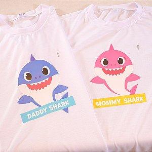 Transfer para Camiseta Mommy e Daddy Baby Shark - 1 Unidade - Cromus - Rizzo Festas