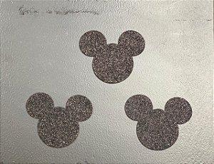Aplique de EVA Mouse Glitter 7,5cm - 06 Unidades - Make Festas Rizzo Festas