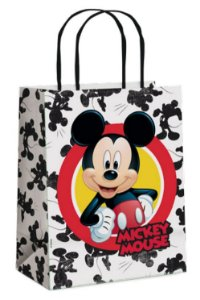 Sacola de Papel Mickey Forever M 26x19,5x9,5cm - 10 unidades - Cromus Páscoa - Rizzo Embalagens