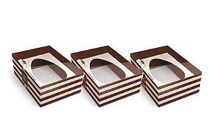 Caixa New Practice Com Colher para Meio Ovo G 500g Hit Sortido 06 unidades - Cromus Páscoa - Rizzo Embalagens
