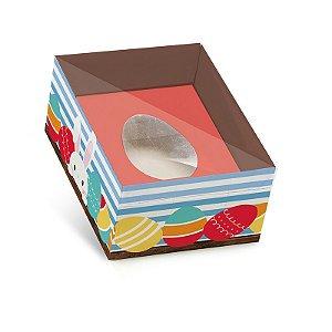 Caixa New Practice Com Colher para Meio Ovo Mini 50g Adoleta 06 unidades - Cromus Páscoa - Rizzo Embalagens