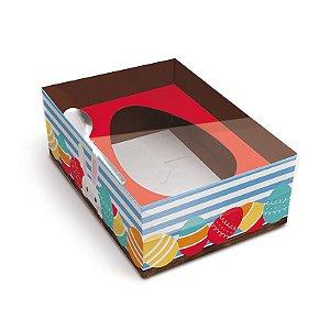 Caixa New Practice Com Colher para Meio Ovo P 500g Adoleta 06 unidades - Cromus Páscoa - Rizzo Embalagens