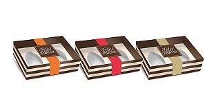 Caixa New Practice para Dois Meio Ovo Mini 14,5x11x4cm - 50g - Hit Sortido 06 unidades - Cromus Páscoa - Rizzo Embalagens