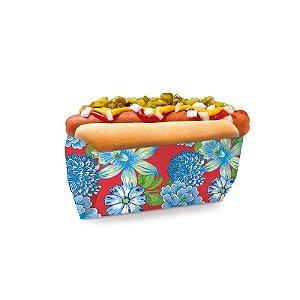 Saquinho para Hot Dog Chita Vermelha 17,5x9x5cm Festa Junina - 50 unidades - Cromus - Rizzo Festas
