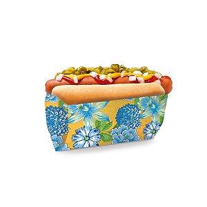Saquinho para Hot Dog Chita Amarela 17,5x9x5cm Festa Junina - 50 unidades - Cromus - Rizzo Festas