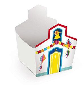Cachepot Igreja 8x7cm Festa Junina - 08 unidades - Cromus - Rizzo Festas