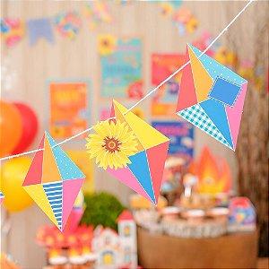 Faixa Decorativa Balões Festa Junina - 01 unidade - Cromus - Rizzo Festas