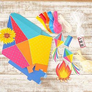 Kit Balões Festa Junina - 01 unidade - Cromus - Rizzo Festas