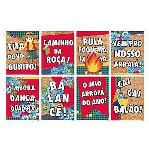 Cartaz Decorativo Sortido Festa Junina - 08 unidades - Cromus - Rizzo Festas