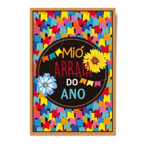 Cartaz Boas Vindas Festa Junina - 01 unidade - Cromus - Rizzo Festas