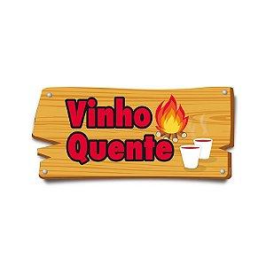 Placa de Sinalização Vinho Quente Festa Junina - 01 unidade - Cromus - Rizzo Festas