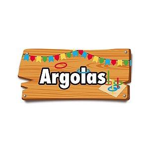 Placa de Sinalização Argolas Festa Junina - 01 unidade - Cromus - Rizzo Festas