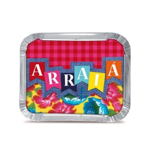 Marmitinha Arraial M 8,5x6,5cm Festa Junina - 12 unidades - Cromus - Rizzo Festas