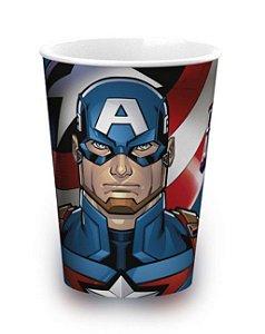 Copo de Plástico Capitão América Avengers 320ml - 1 unidade - Plasútil - Rizzo Festas