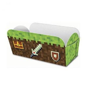 Caixa para Hot Dog Festa Minecraft - 8 unidades - Junco - Rizzo Festas