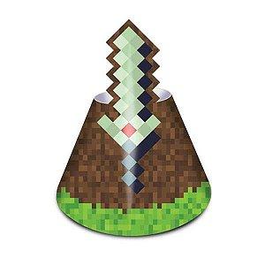 Chapéu Festa Minecraft - 8 unidades - Junco - Rizzo Festas