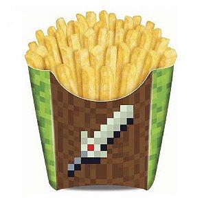 Caixa para Fritas Festa Minecraft - 8 unidades - Junco - Rizzo Festas