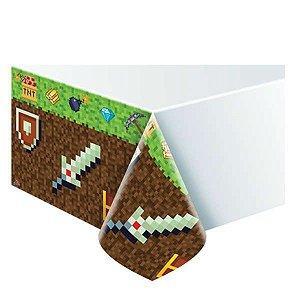 Toalha De Mesa Grande Festa Minecraft - Junco - Rizzo Festas