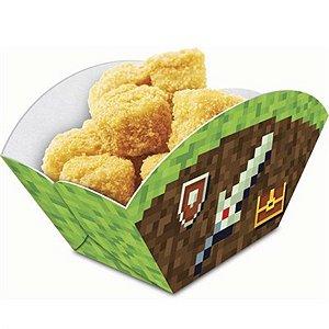 Caixa Petiscos Festa Minecraft - 8 unidades - Junco - Rizzo Festas
