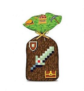 Sacola Surpresa Festa Minecraft - 8 unidades - Junco - Rizzo Festas