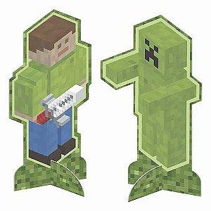 Enfeite de Mesa Festa Minecraft - 8 Unidade - Junco - Rizzo Festas