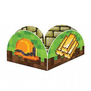 Porta Forminha para Doces Festa Minecraft - 40 unidades - Junco - Rizzo Festas