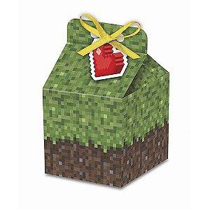 Caixa Decorativa Sortido Formato Milk Festa Minecraft - 8 unidades - Junco - Rizzo Festas