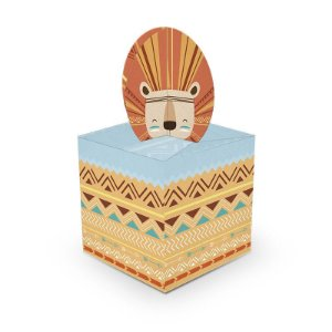 Caixa para Lembrancinhas Festa Raposa - 8 unidades - Junco - Rizzo Festas