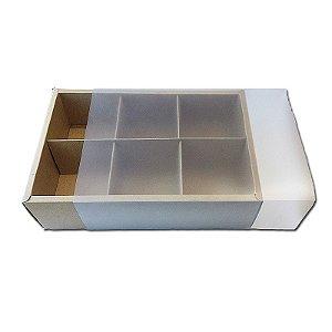Caixa Pão de Mel Kraft 23X15,5X5 com 6 divisões - A11 - 1 Unidade  - Rizzo