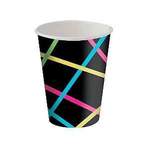 Copo de Papel Festa Neon 180ml - 8 unidades - Festcolor - Rizzo Festas