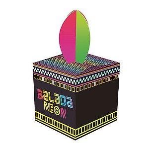Caixa para Lembrancinhas Festa Neon - 8 unidades - Junco - Rizzo Festas