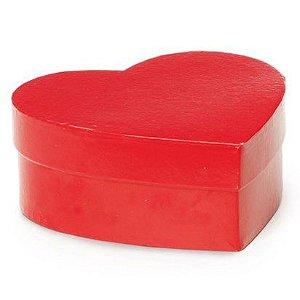 Caixa Rígida Coração Vermelho - 25,5x21x8cm - Cromus - Rizzo Embalagens