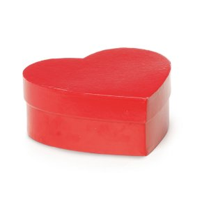 Caixa Rígida Coração Vermelho - 18,5x15,5x6cm - Cromus - Rizzo Embalagens