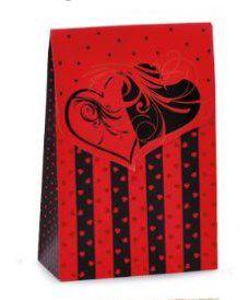 Caixa Trapézio Loucuras de Amor G 23x10,5x35cm - Cromus - Rizzo Embalagens