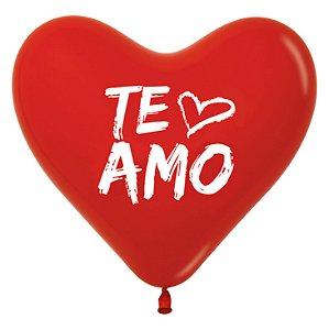 Balão de Festa Coração Te Amo 12'' 28cm - 60 unidades - Sempertex - Cromus - Rizzo Festas