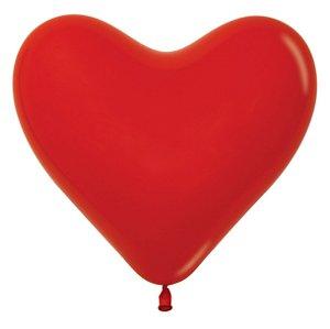 Balão de Festa Coração Vermelho Liso 6'' 15cm - 12 unidades - Sempertex - Cromus - Rizzo Festas