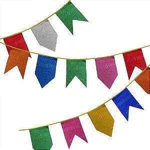 Bandeirinha Festa Junina de Plástico 10 Metros - Rizzo Festas