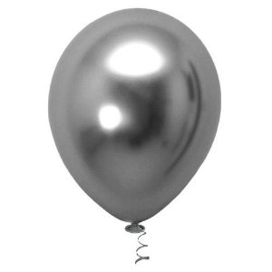 Balão de Festa Metálico 9'' 23cm - Chumbo - 25 unidades - São Roque - Rizzo Festas
