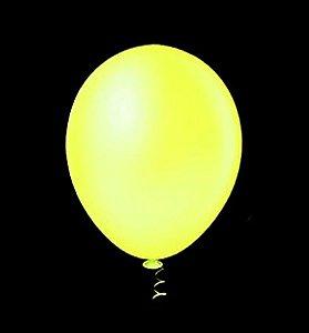 Balão de Festa Neon 9'' 23cm - Amarelo - 25 unidades - São Roque - Rizzo Festas